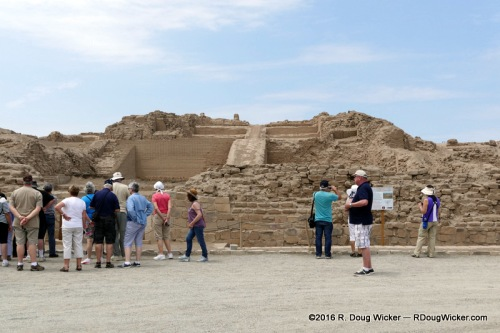 Tour Group at Pachacamac