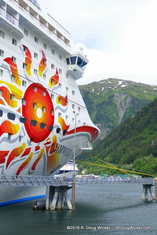 The Norwegian Sun in Juneau, Alaska
