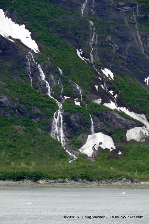 Waterfalls in Glacier Bay