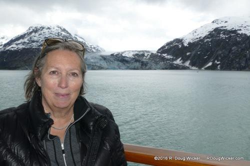Ursula Enjoying the Balcony View