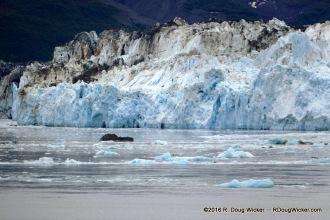 Hubbard Glacier meets Valerie Glacier