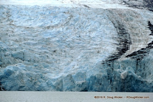 Portage Glacier with a ribbon of Moraine (rock debris)