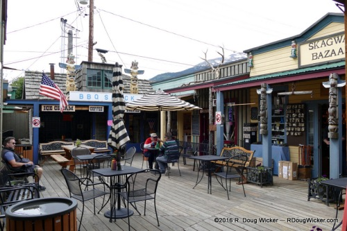 BBQ Shack in the Skagway Bazaar Courtyard