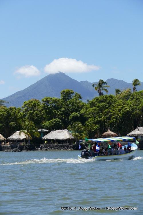 "Setting sail (or is that ""setting motor""?) on Lake Nicaragua"