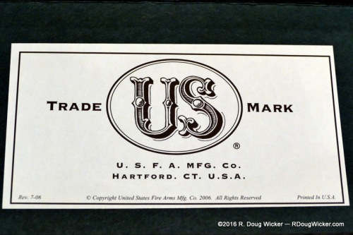 U.S.F.A. MFG. CO., Hartford, CT (Connecticut) label