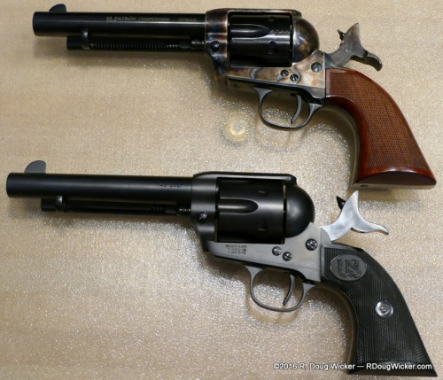 Uberti El Patrón Competition; U.S.F.A. Rodeo — Note the hammer/firing pin differences