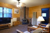 Riverside Lodge & Cabins wood burning stove