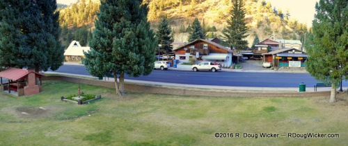 View from our Riverside Lodge & Cabins room