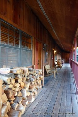 Riverside Lodge & Cabins — stacked wood for the stove