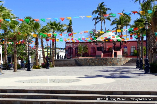 The Central Plaza — across the street from the mission