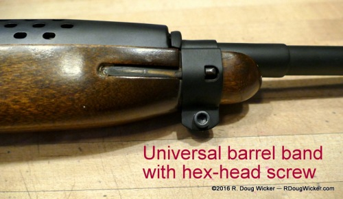 Universal M1 Carbine Type-2 barrel band with hex-head screw