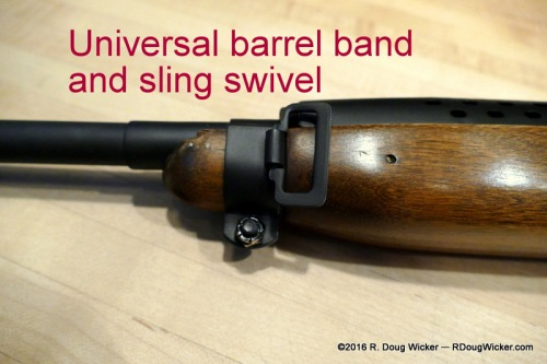 Universal M1 Carbine barrel band and sling swivel