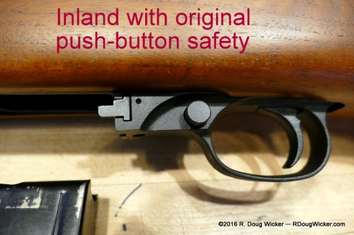 Inland with original push-button safety disengaged