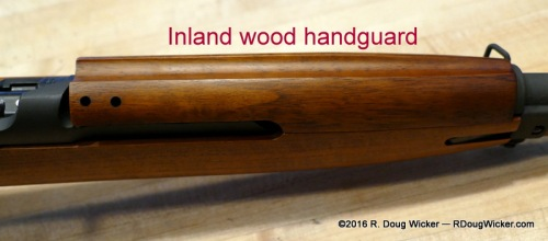 Traditional wood upper hand guard