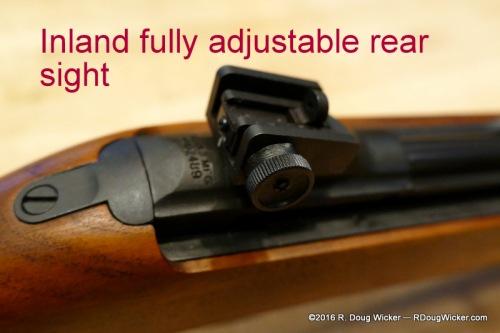 Inland fully adjustable rear sight