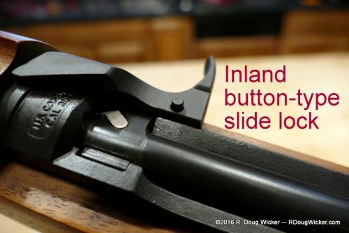 Inland push-button slide lock