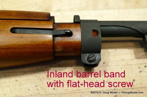 Flat-head screw on barrel band