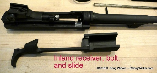 Slide removed from receiver, leaving the bolt in place