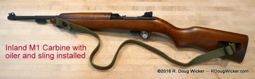 .30 Inland M1 Carbine, 1945 version with oiler and sling