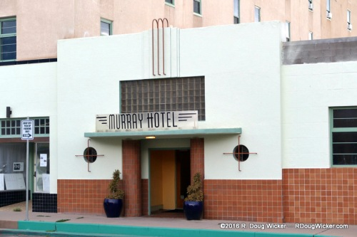 The Art Deco styling of the Murray Hotel