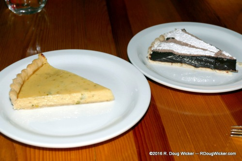 Habenero key lime and torte del chocolate