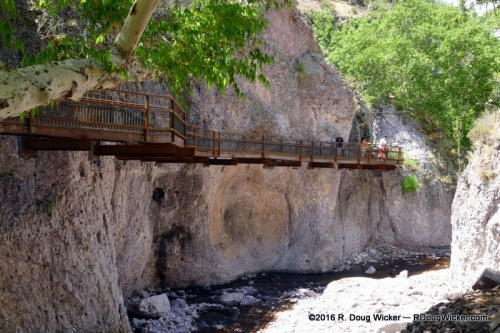 Catwalk above Whitewater Creek