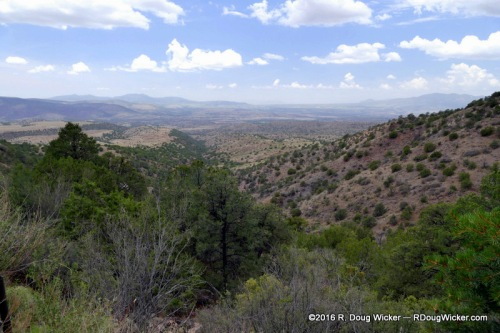 The view descending from Mogollon Ghost Town