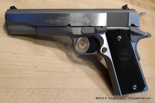 Colt M1991A1 .38 Super +P in stainless — A real winner