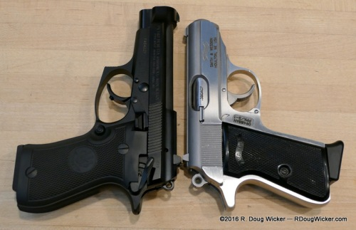 Length comparison 85FS vs. PPK/S