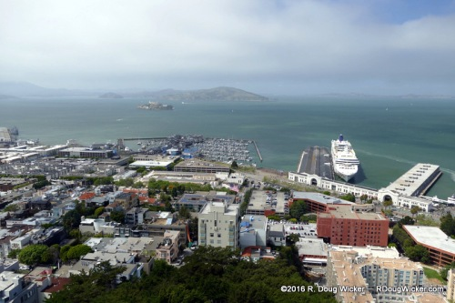 Cruise Ship Terminal and Alcatraz Island