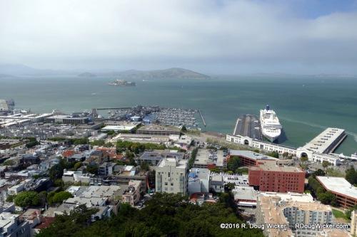 Cruise Ship Terminal and Alcatraz Island
