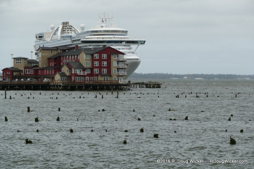 Crown Princess and Cannery Pier