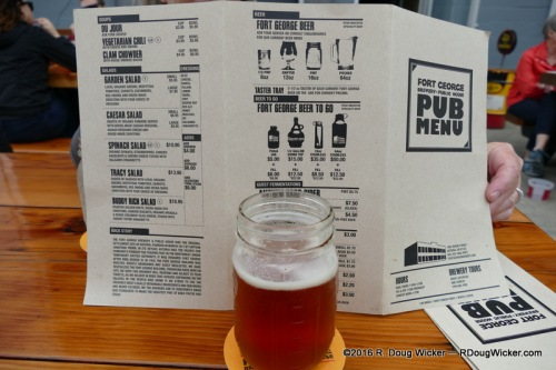 Fort George Brewery + Public House Menu