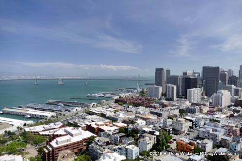 San Francisco Financial District and the Oakland Bay Bridge