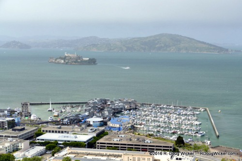 Pier 39 and the Alcatraz and Angel Islands