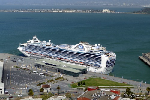 Crown Princess in port
