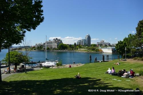 Wharf Street park overlooking the Strait of Juan de Fuca