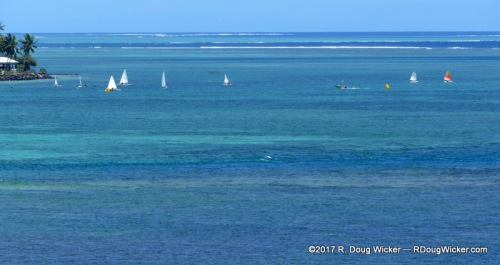 Sailing in Apia Bay