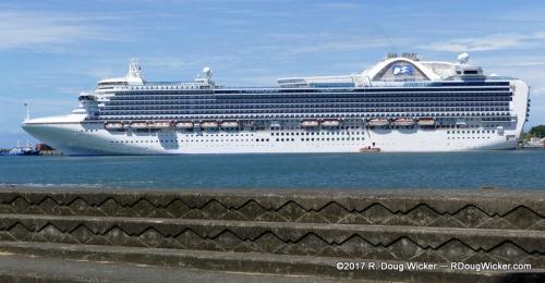 Crown Princess in port