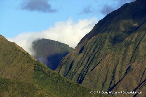 Eroded remnants of Mauna Kahalawai shield volcano