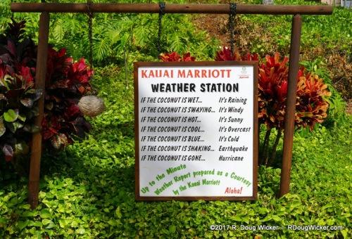 Kaua'i Marriott's advanced weather station