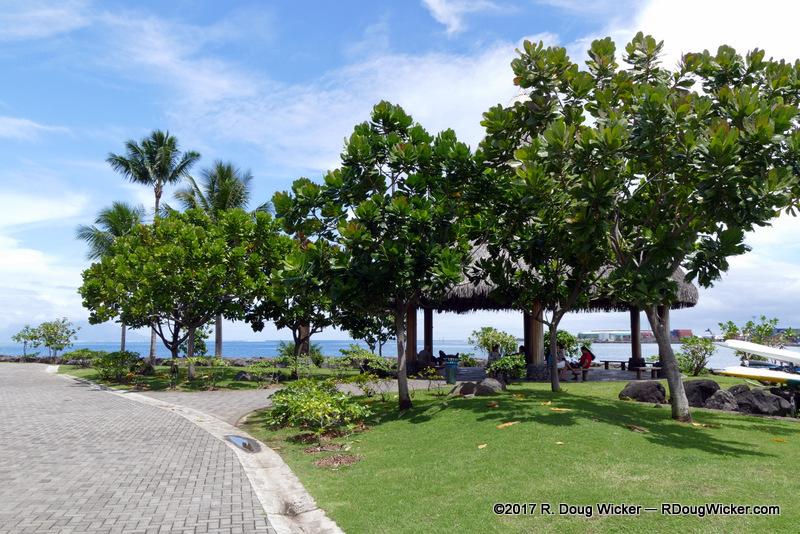port 9 papeete along the shore at p fa i gardens r doug wicker author