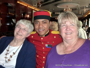 Our dining companions Marilyn and her mother with Bagus