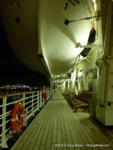 MS Prinsendam Promenade Deck at Night