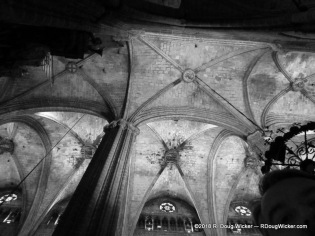Barcelona Cathedral in Black & White