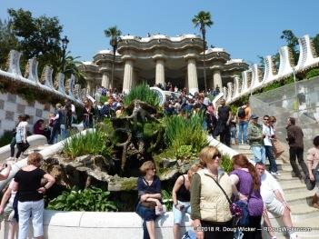 Barcelona, Bill Travis, cruise ship, Holland America, Joelle Travis, MS Prinsendam, Park Güell, photography, R. Doug Wicker, Spain, travel, travel photography, vacation