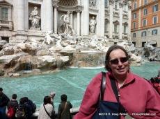 Ursula at Trevi Fountain