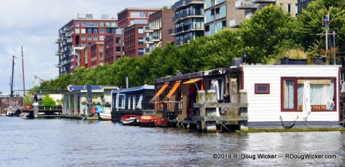 Famed houseboats of Amsterdam